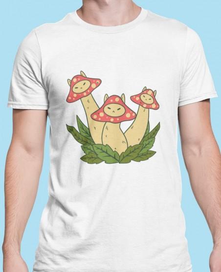 Red Mushroom Face T-Shirt