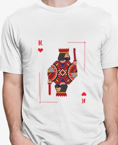 king of hearts playing cards t shirt