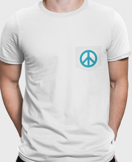 Peace and Love Pocket T-Shirt