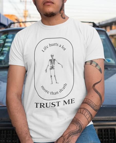 Life Hurts Biker T Shirt