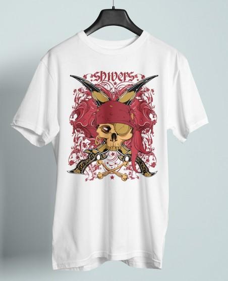 Shivers Red Skull T-Shirt Sri Lanka