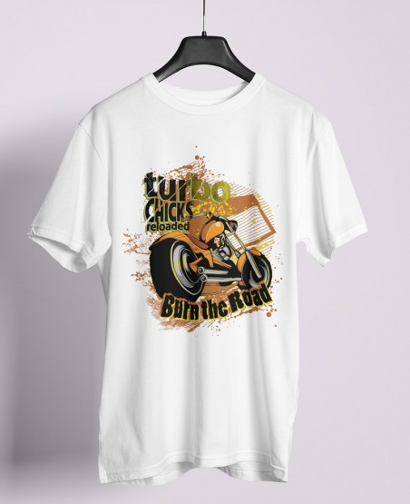 Turbo Chicks Reloaded Burn The Road T-Shirt Sri Lanka