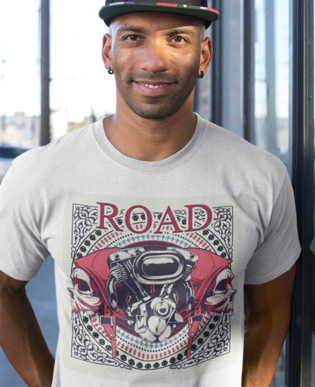 Road Bike Engine Graphic T-Shirt Sri Lanka