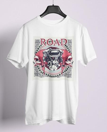 Bike engine and 2 skulls t shirt sri lanka
