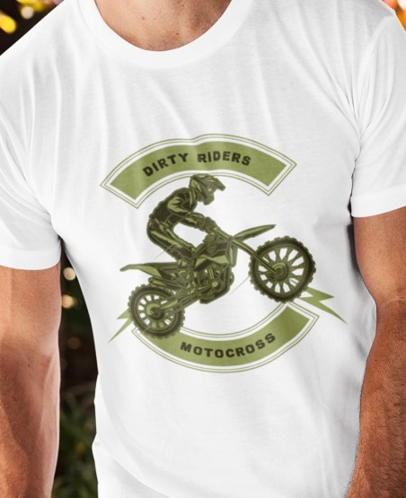 Dirty Riders Biker T Shirt