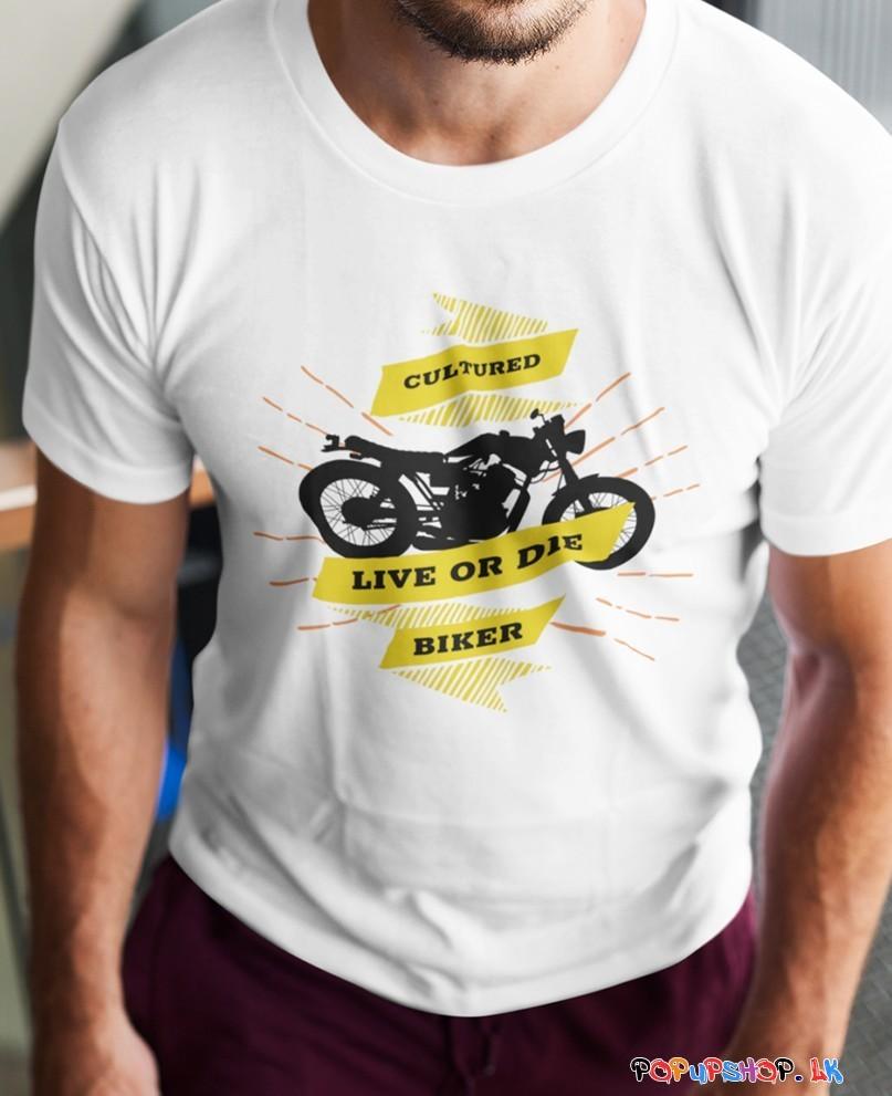 Cultured Motor Biker T-Shirt