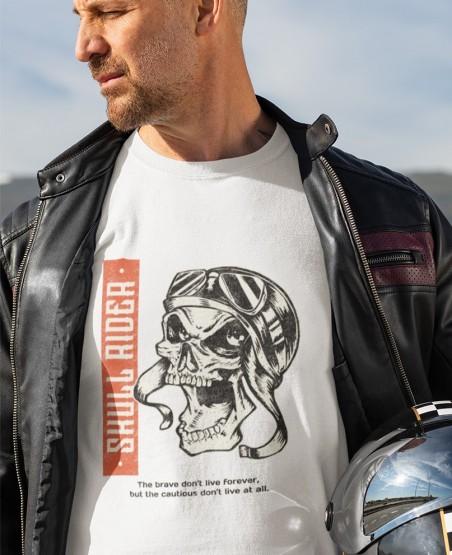 Skull Rider Biker T Shirt