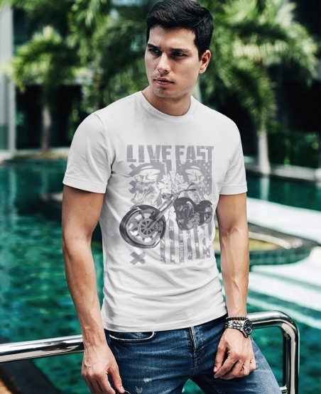 Live Fast Biker T-Shirt