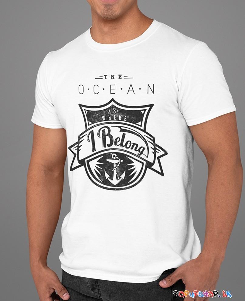 the ocean is where I belong t-shirt sri lanka
