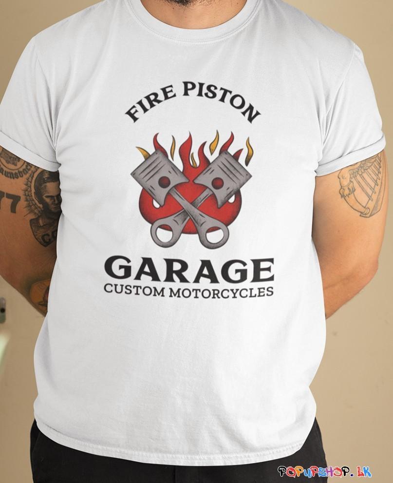 Fire Piston Biker T-Shirt
