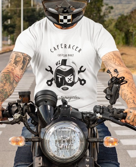 Classic Custom Built Motorcycle T Shirt