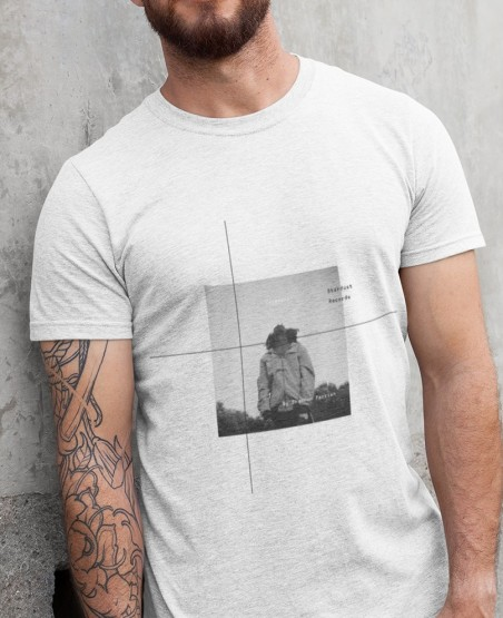 Ceremony T-Shirt | Black and White Man Looking at Sky